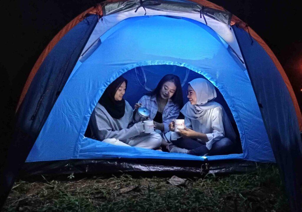 camping di puncak curug cibogo